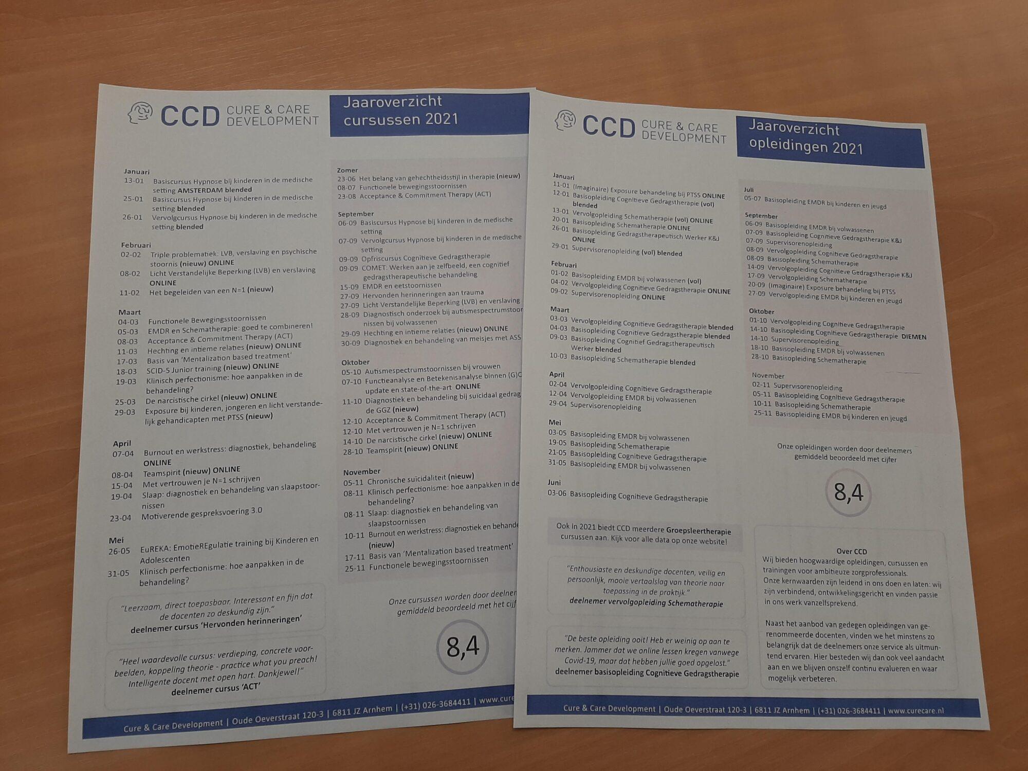 Jaaroverzicht CCD 2021